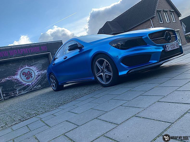 Mercedes CLA Matte Bleu Chrome, Carwrapping door Wrapmyride.nu Foto-nr:13823, ©2021