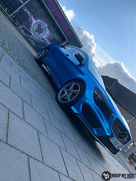 Mercedes CLA Matte Bleu Chrome, Carwrapping door Wrapmyride.nu Foto-nr:13824, ©2021