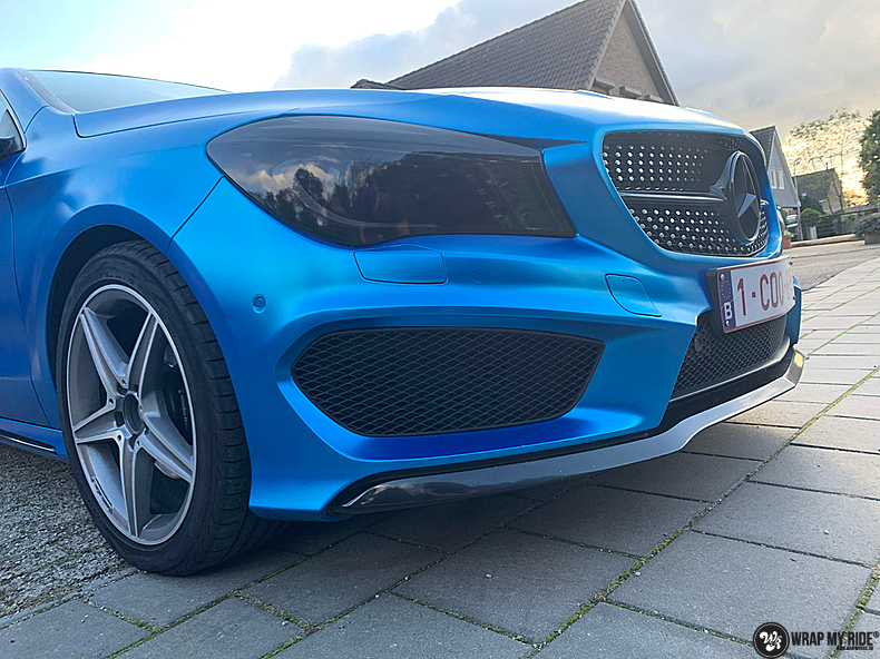 Mercedes CLA Matte Bleu Chrome, Carwrapping door Wrapmyride.nu Foto-nr:13829, ©2021