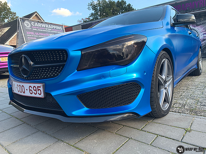 Mercedes CLA Matte Bleu Chrome, Carwrapping door Wrapmyride.nu Foto-nr:13830, ©2021