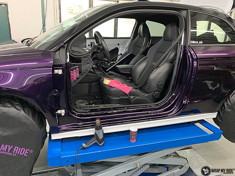 Audi A1 inozotec midnight purple, Carwrapping door Wrapmyride.nu Foto-nr:13711, ©2021