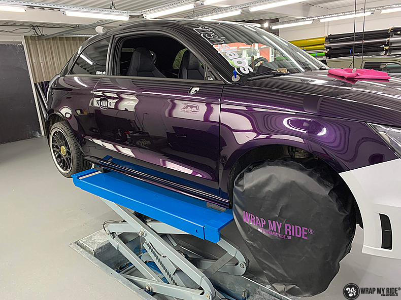 Audi A1 inozotec midnight purple, Carwrapping door Wrapmyride.nu Foto-nr:13718, ©2021