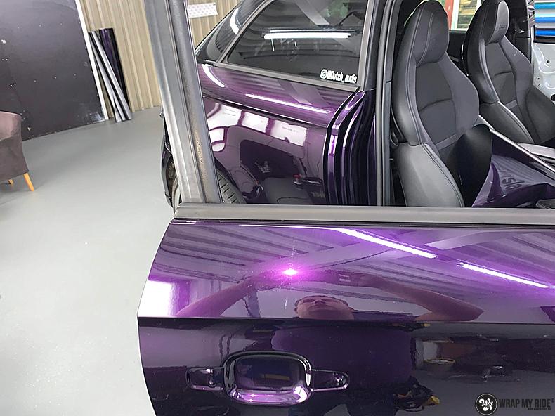 Audi A1 inozotec midnight purple, Carwrapping door Wrapmyride.nu Foto-nr:13719, ©2021