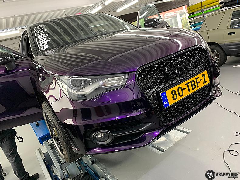 Audi A1 inozotec midnight purple, Carwrapping door Wrapmyride.nu Foto-nr:13725, ©2021
