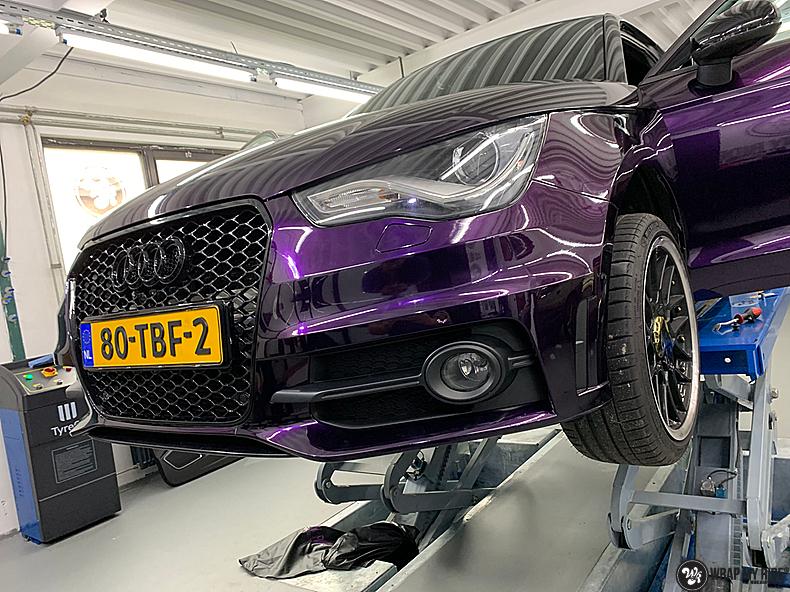 Audi A1 inozotec midnight purple, Carwrapping door Wrapmyride.nu Foto-nr:13727, ©2021