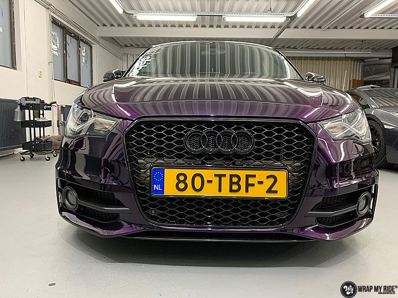 Audi A1 inozotec midnight purple, Carwrapping door Wrapmyride.nu Foto-nr:13732, ©2021