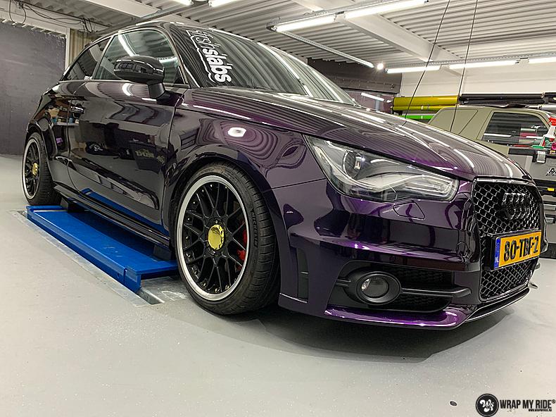 Audi A1 inozotec midnight purple, Carwrapping door Wrapmyride.nu Foto-nr:13734, ©2021