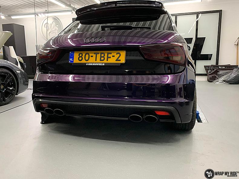 Audi A1 inozotec midnight purple, Carwrapping door Wrapmyride.nu Foto-nr:13737, ©2021