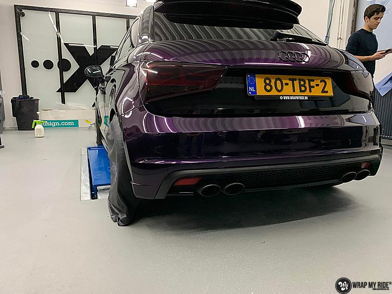 Audi A1 inozotec midnight purple, Carwrapping door Wrapmyride.nu Foto-nr:13738, ©2021