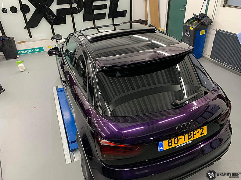 Audi A1 inozotec midnight purple, Carwrapping door Wrapmyride.nu Foto-nr:13739, ©2021