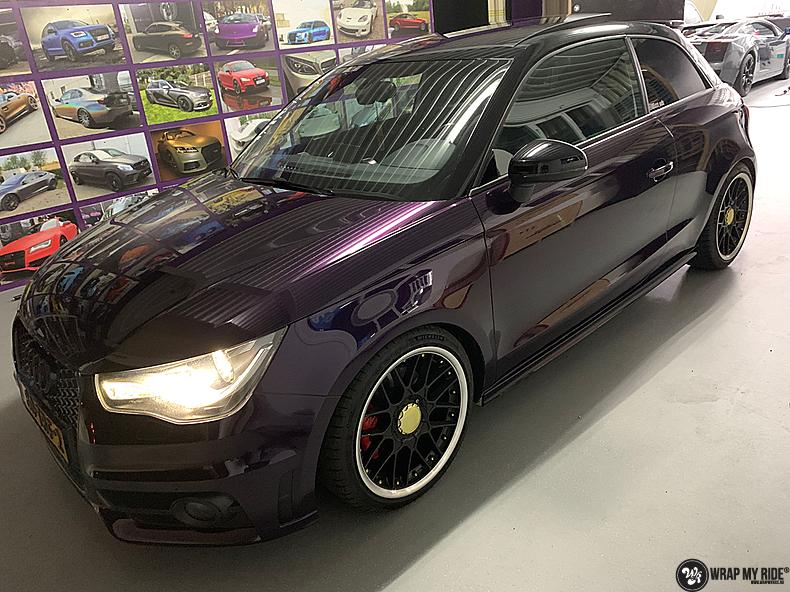 Audi A1 inozotec midnight purple, Carwrapping door Wrapmyride.nu Foto-nr:13740, ©2021