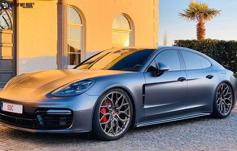 Porsche Panamera 4S satin dark grey, Carwrapping door Wrapmyride.nu Foto-nr:13302, ©2021