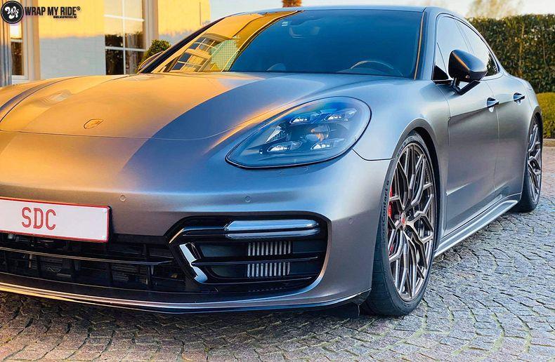 Porsche Panamera 4S satin dark grey, Carwrapping door Wrapmyride.nu Foto-nr:13303, ©2021