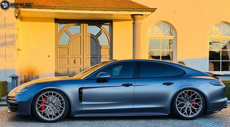 Porsche Panamera 4S satin dark grey, Carwrapping door Wrapmyride.nu Foto-nr:13304, ©2021