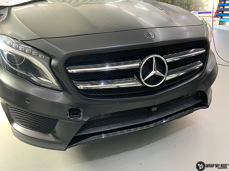 mercedes GLA Satin Black, Carwrapping door Wrapmyride.nu Foto-nr:13347, ©2021