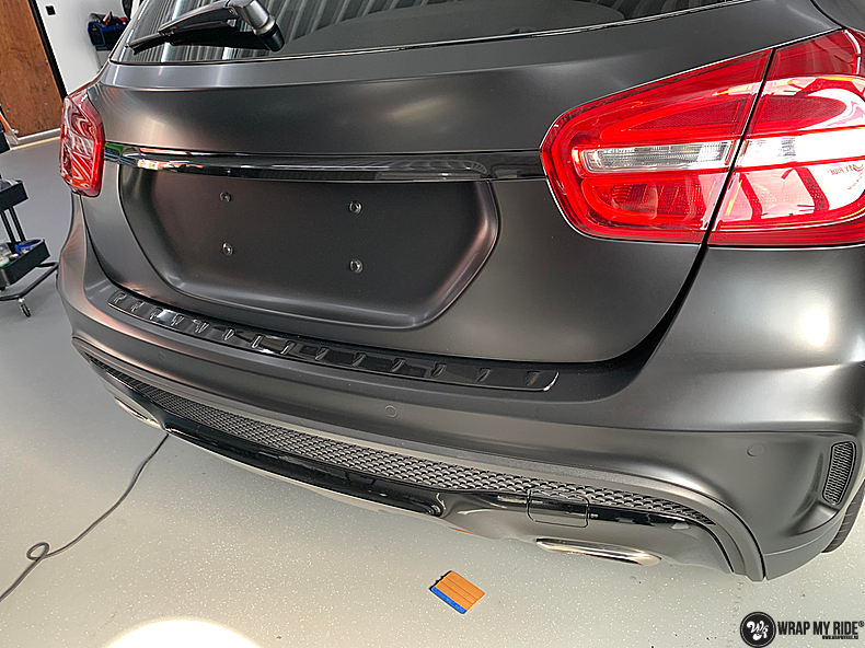 mercedes GLA Satin Black, Carwrapping door Wrapmyride.nu Foto-nr:13343, ©2021
