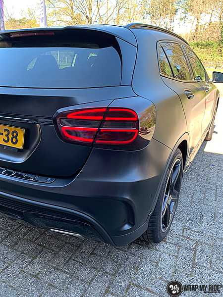 mercedes GLA Satin Black, Carwrapping door Wrapmyride.nu Foto-nr:13326, ©2021