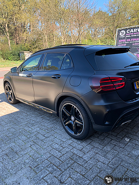 mercedes GLA Satin Black, Carwrapping door Wrapmyride.nu Foto-nr:13325, ©2021