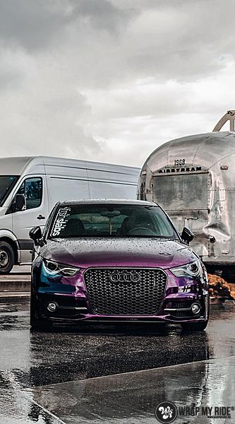 Audi A1 inozotec midnight purple, Carwrapping door Wrapmyride.nu Foto-nr:13744, ©2021