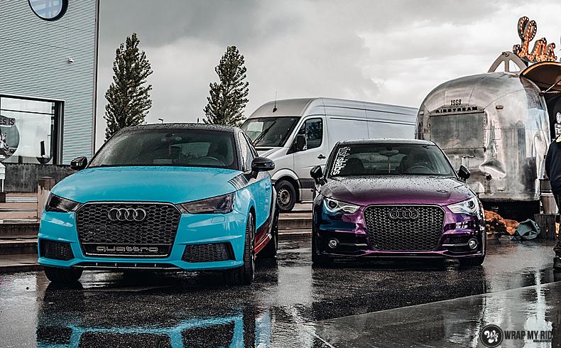 Audi A1 inozotec midnight purple, Carwrapping door Wrapmyride.nu Foto-nr:13745, ©2021