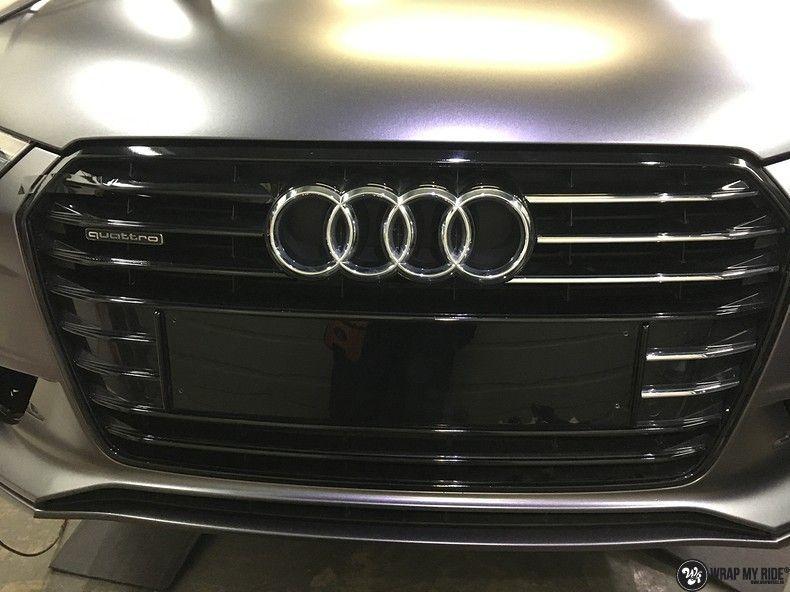 Audi A7 S-line Satin Dark Grey, Carwrapping door Wrapmyride.nu Foto-nr:10579, ©2021