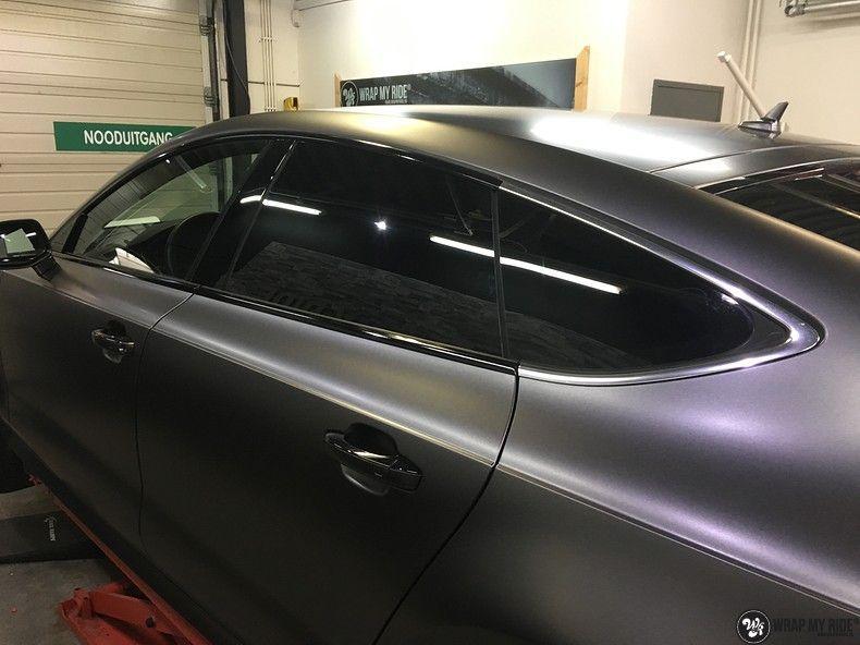 Audi A7 S-line Satin Dark Grey, Carwrapping door Wrapmyride.nu Foto-nr:10586, ©2021