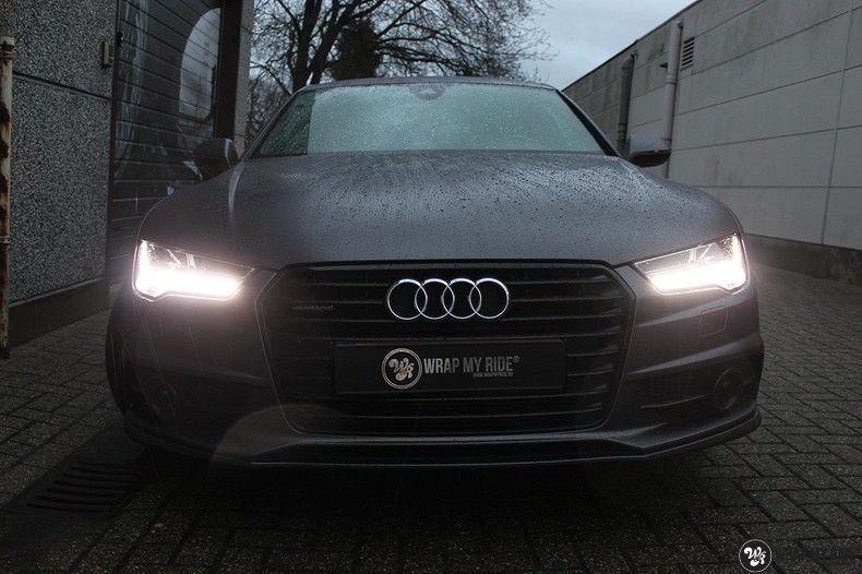 Audi A7 S-line Satin Dark Grey, Carwrapping door Wrapmyride.nu Foto-nr:10577, ©2021