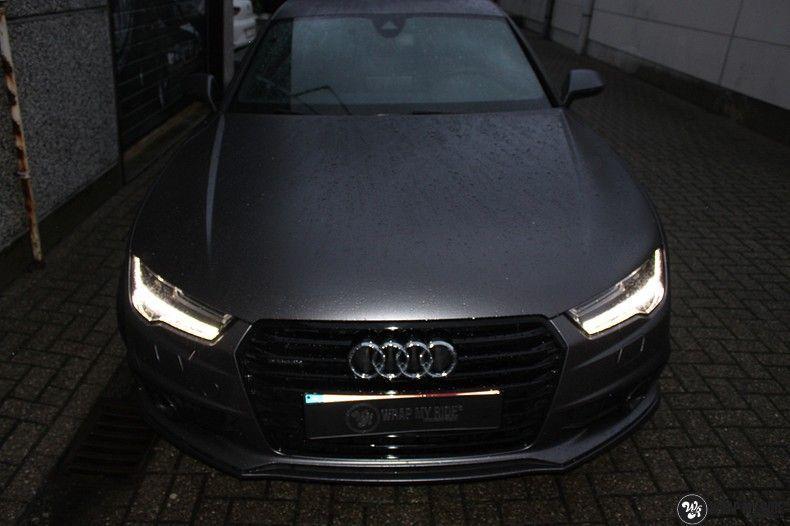 Audi A7 S-line Satin Dark Grey, Carwrapping door Wrapmyride.nu Foto-nr:10576, ©2021