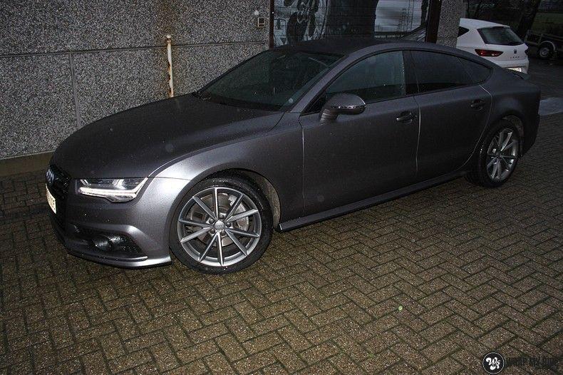 Audi A7 S-line Satin Dark Grey, Carwrapping door Wrapmyride.nu Foto-nr:10574, ©2021