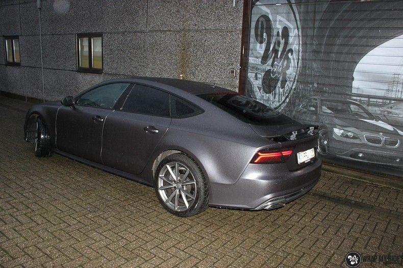 Audi A7 S-line Satin Dark Grey, Carwrapping door Wrapmyride.nu Foto-nr:10573, ©2021