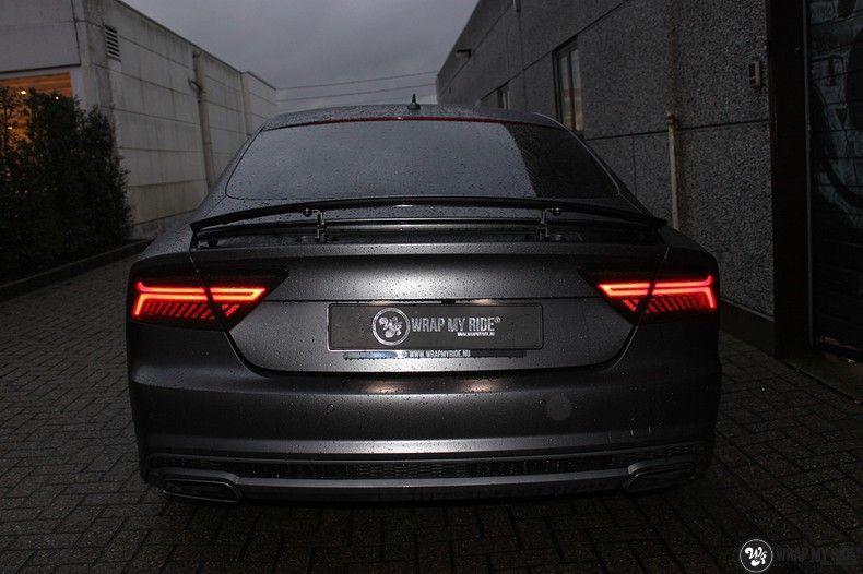 Audi A7 S-line Satin Dark Grey, Carwrapping door Wrapmyride.nu Foto-nr:10572, ©2021