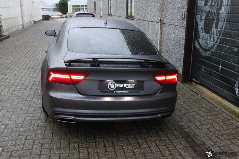 Audi A7 S-line Satin Dark Grey, Carwrapping door Wrapmyride.nu Foto-nr:10571, ©2021