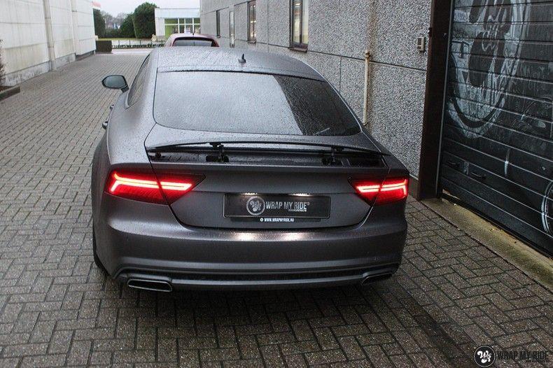 Audi A7 S-line Satin Dark Grey, Carwrapping door Wrapmyride.nu Foto-nr:10570, ©2021
