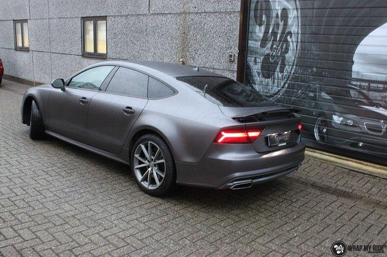 Audi A7 S-line Satin Dark Grey, Carwrapping door Wrapmyride.nu Foto-nr:10569, ©2021