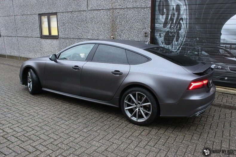 Audi A7 S-line Satin Dark Grey, Carwrapping door Wrapmyride.nu Foto-nr:10568, ©2021
