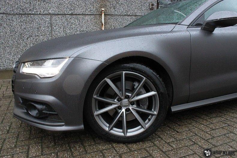 Audi A7 S-line Satin Dark Grey, Carwrapping door Wrapmyride.nu Foto-nr:10563, ©2021