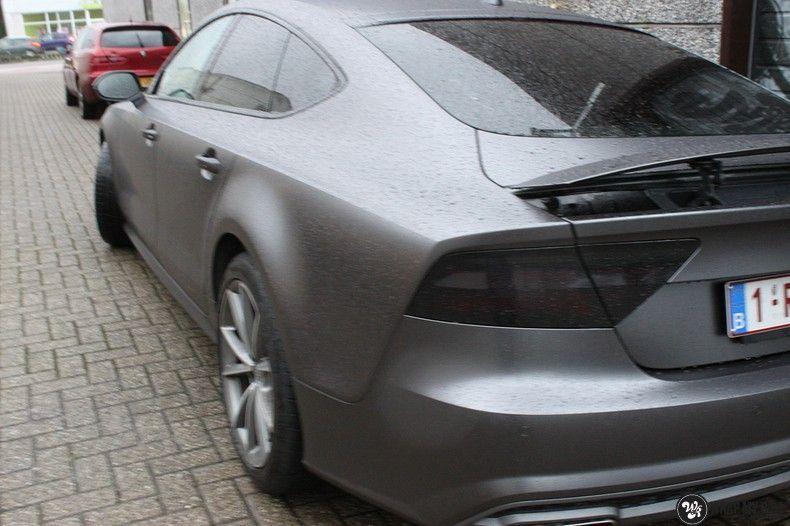 Audi A7 S-line Satin Dark Grey, Carwrapping door Wrapmyride.nu Foto-nr:10559, ©2021