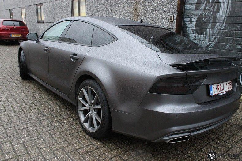 Audi A7 S-line Satin Dark Grey, Carwrapping door Wrapmyride.nu Foto-nr:10558, ©2021