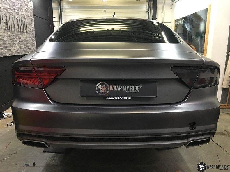Audi A7 S-line Satin Dark Grey, Carwrapping door Wrapmyride.nu Foto-nr:10580, ©2021