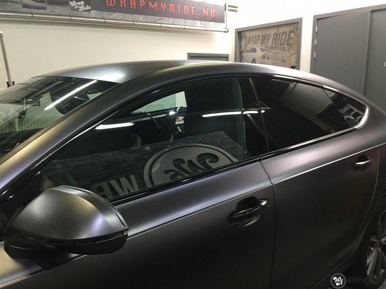 Audi A7 S-line Satin Dark Grey, Carwrapping door Wrapmyride.nu Foto-nr:10584, ©2021