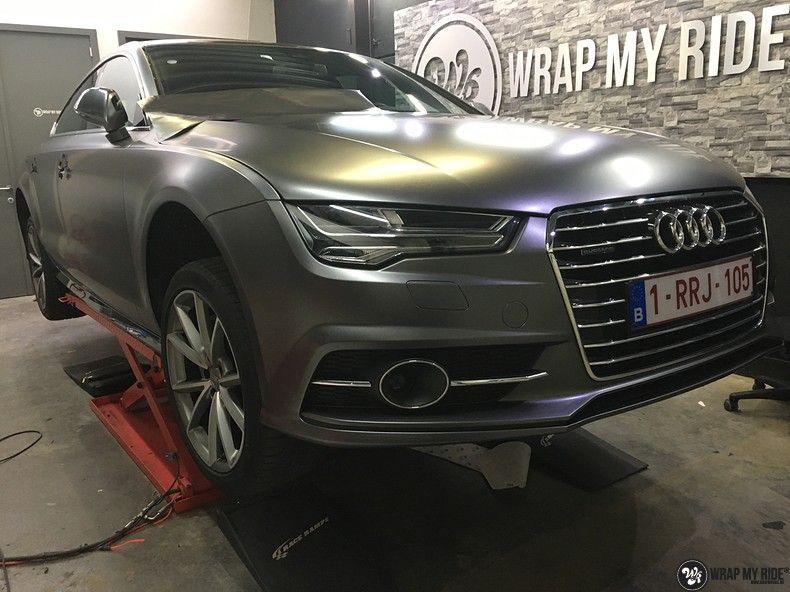 Audi A7 S-line Satin Dark Grey, Carwrapping door Wrapmyride.nu Foto-nr:10590, ©2021