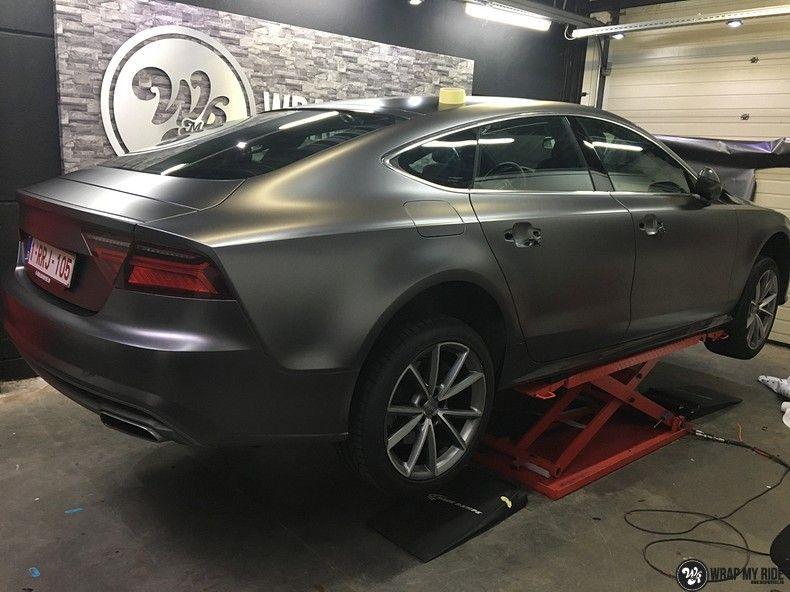 Audi A7 S-line Satin Dark Grey, Carwrapping door Wrapmyride.nu Foto-nr:10591, ©2021