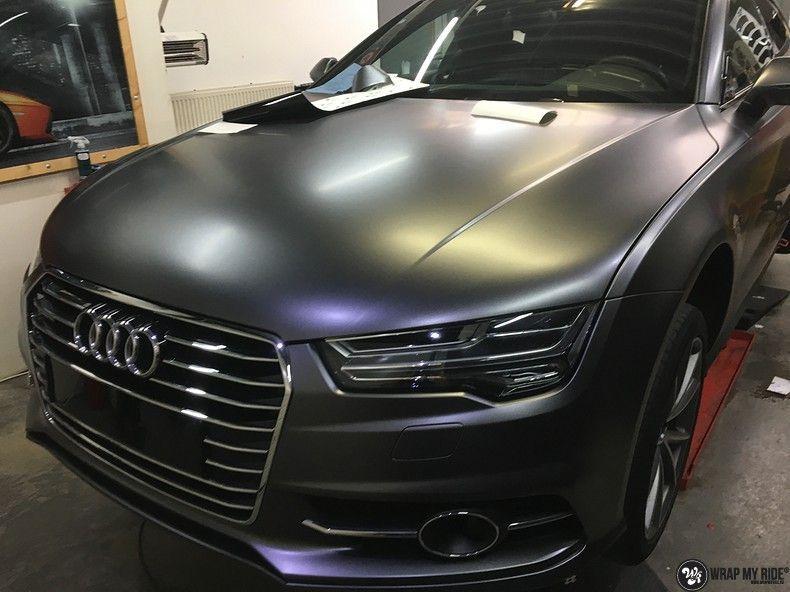 Audi A7 S-line Satin Dark Grey, Carwrapping door Wrapmyride.nu Foto-nr:10583, ©2021