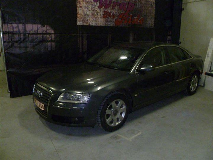 Audi A8 in Stijlvolle Zilvergrijze Wrap, Carwrapping door Wrapmyride.nu Foto-nr:4901, ©2021