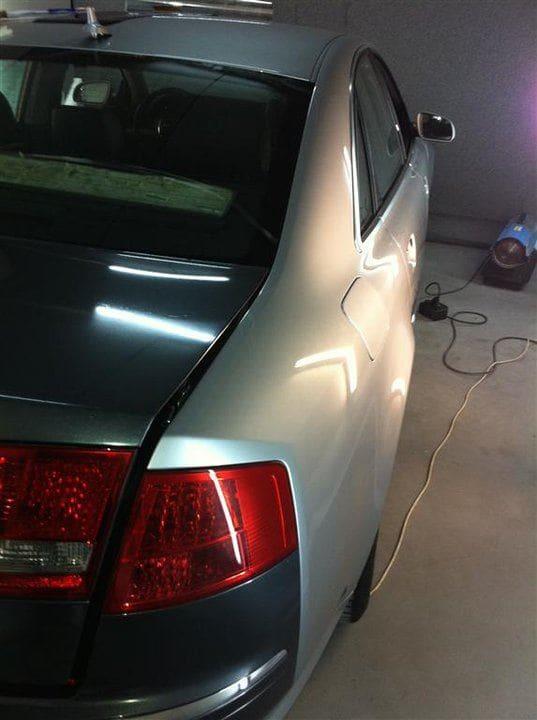 Audi A8 in Stijlvolle Zilvergrijze Wrap, Carwrapping door Wrapmyride.nu Foto-nr:4903, ©2021