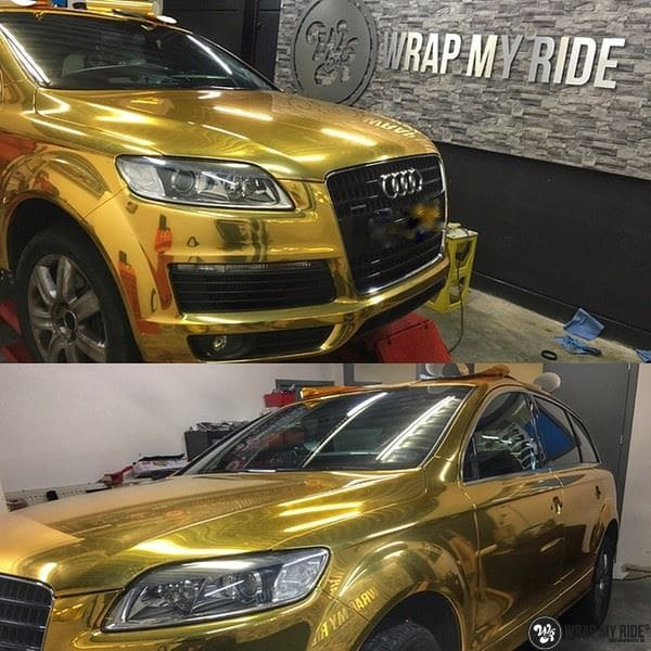 Audi Q7 Gold Chrome, Carwrapping door Wrapmyride.nu Foto-nr:8819, ©2021