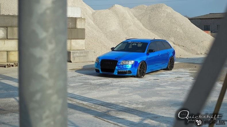 Audi A6 Bleu Chrome, Carwrapping door Wrapmyride.nu Foto-nr:9746, ©2021