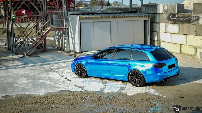 Audi A6 Bleu Chrome, Carwrapping door Wrapmyride.nu Foto-nr:9747, ©2021