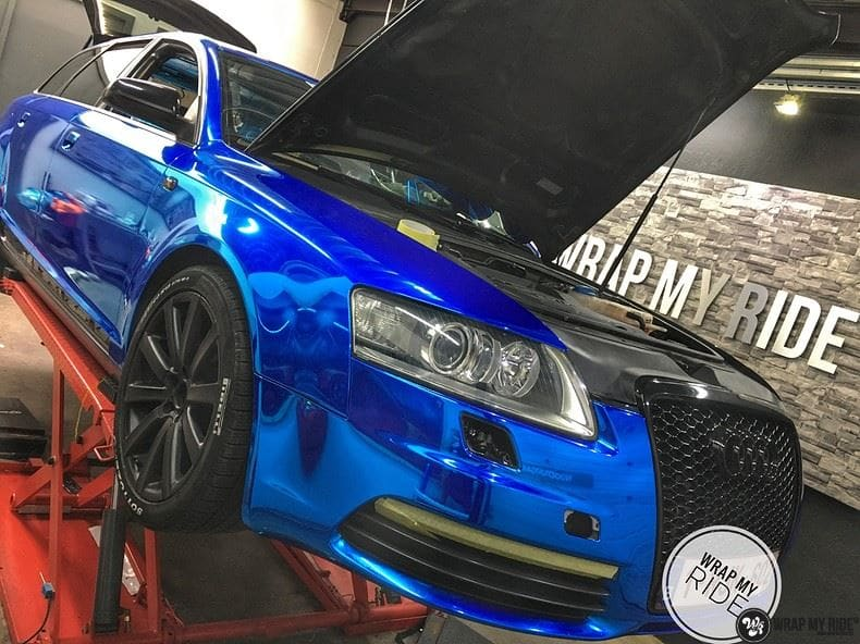 Audi A6 Bleu Chrome, Carwrapping door Wrapmyride.nu Foto-nr:9748, ©2021