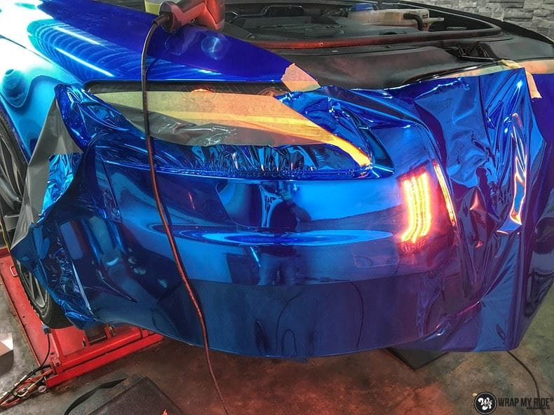 Audi A6 Bleu Chrome, Carwrapping door Wrapmyride.nu Foto-nr:9749, ©2021
